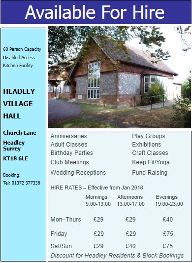 The Village Hall Pricing
